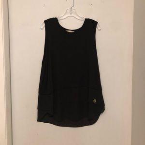 Michael Kors Black Sheer Tank Top Size XL